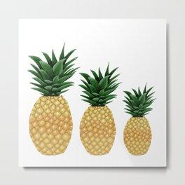 Pineapple Family Metal Print