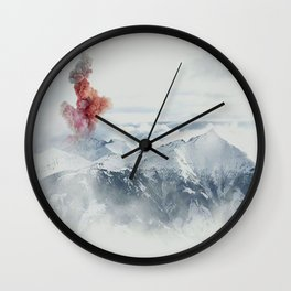 Beautiful Volcano Wall Clock