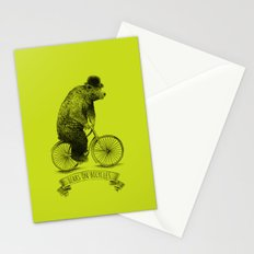 Bears on Bicycles (Lime) Stationery Cards