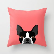 Kennedy - Boston Terrier cute dog themed gifts for small dog owners and Boston Terrier gifts  Throw Pillow