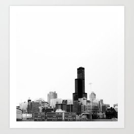 Chicago Lines Art Print