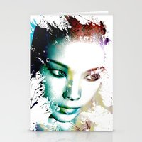 asia Stationery Cards featuring Asia by J. Ekstrom