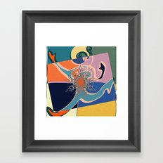 colorful runner Framed Art Print