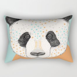 Polkadot Panda Rectangular Pillow