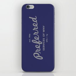 Preferred Services of WNY in Gray iPhone Skin