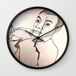James Baldwin by Double R Wall Clock