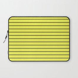 Black Lines On Yellow Laptop Sleeve