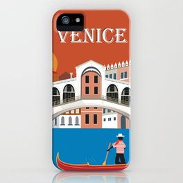 Venice, Italy - Skyline Illustration by Loose Petals iPhone Case
