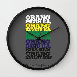 Kita kan Orang Malaysia? Wall Clock
