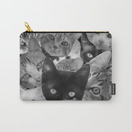 BW Cat Collage Carry-All Pouch
