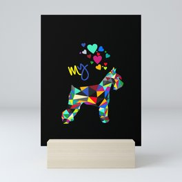 I love my schnauzer (II) Mini Art Print
