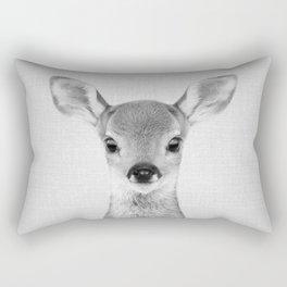 Baby Deer - Black & White Rectangular Pillow