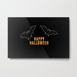 Happy Halloween Bat Metal Print