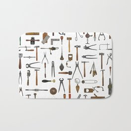 vintage tools collage Bath Mat