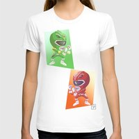 power rangers T-shirts featuring Mighty Fightin' Power Rangers by garciarts