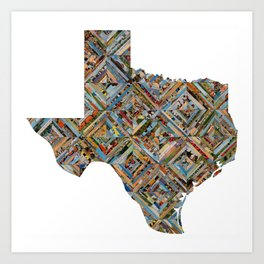 Map of Texas Art Print