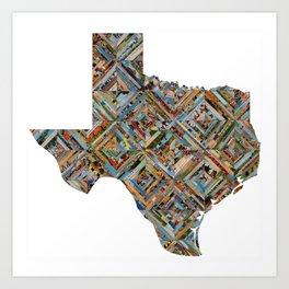 Map of Texas Art Print
