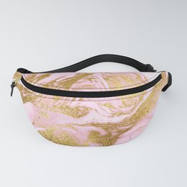 Rose Gold Mermaid Marble Fanny Pack
