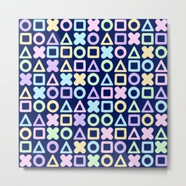 A weird game of pastel tic tac toe in the dark Metal Print
