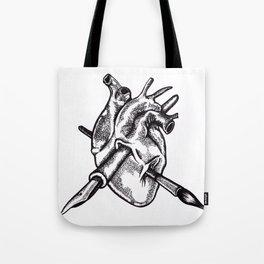 Heart of an artist Tote Bag