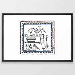 Water Carriers (Domai Muduli) Framed Art Print