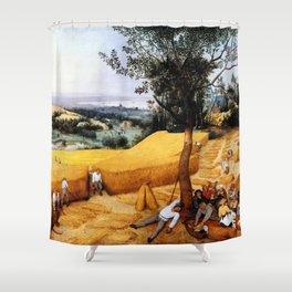 "Pieter Bruegel (also Brueghel or Breughel) the Elder ""The Harvesters"" Shower Curtain"