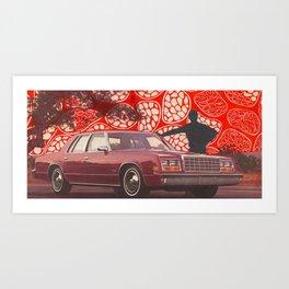 Suburb Silhouette Art Print