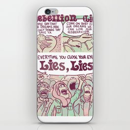 Rebellion (Lies) iPhone Skin
