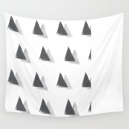 black and grey Wall Tapestry