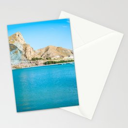 Scenic view on the Cuevas del Almanzora reservoir, Spain Stationery Cards