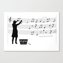 making more music Canvas Print