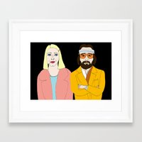 tenenbaums Framed Art Prints featuring Tenenbaums by Elena Éper