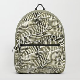 Tropical Leaves – Taupe Palette Backpack