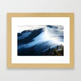 Jura Mountains Switzerland - Sea of Fog Framed Art Print