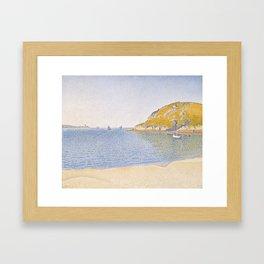 Port of Saint-Cast Framed Art Print