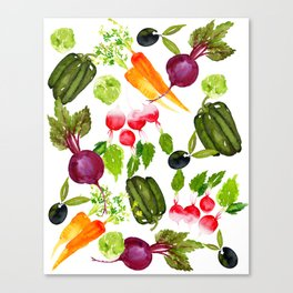 Mixed Vegetables Canvas Print