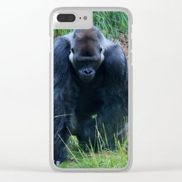 Gorilla On The Prowl Clear iPhone Case