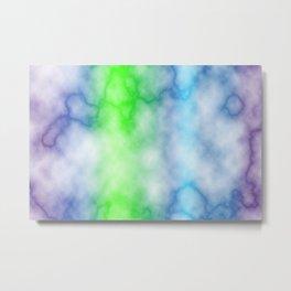 Rainbow marble texture 3 Metal Print