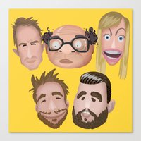 always sunny Canvas Prints featuring Always Sunny Cast by ivyt