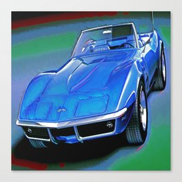 Classic American Muscle Car Art Canvas Print