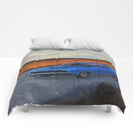 Blue Dodge Charger Comforters