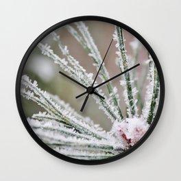 Frosty needles Wall Clock