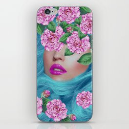Lady with Camellias iPhone Skin