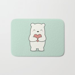 Kawaii Cute Polar Bear Bath Mat
