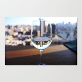 New York City Skyline in Wine Glass Canvas Print