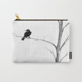 Raven in a Tree Carry-All Pouch