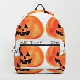 Trick or Treat Jack-O-Lantern, Halloween Pumpkin Backpack
