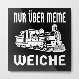 Just About My Soft Railway Lover Design Metal Print