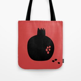 Black pomegranate and seeds Tote Bag