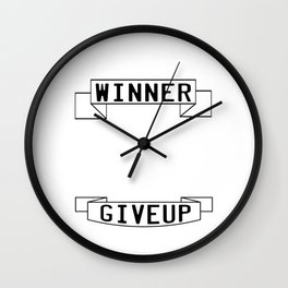 Motivational & Inspirational Tee for person who want success A WINNER IS A DREAMER WHO NEVER GIVE UP Wall Clock